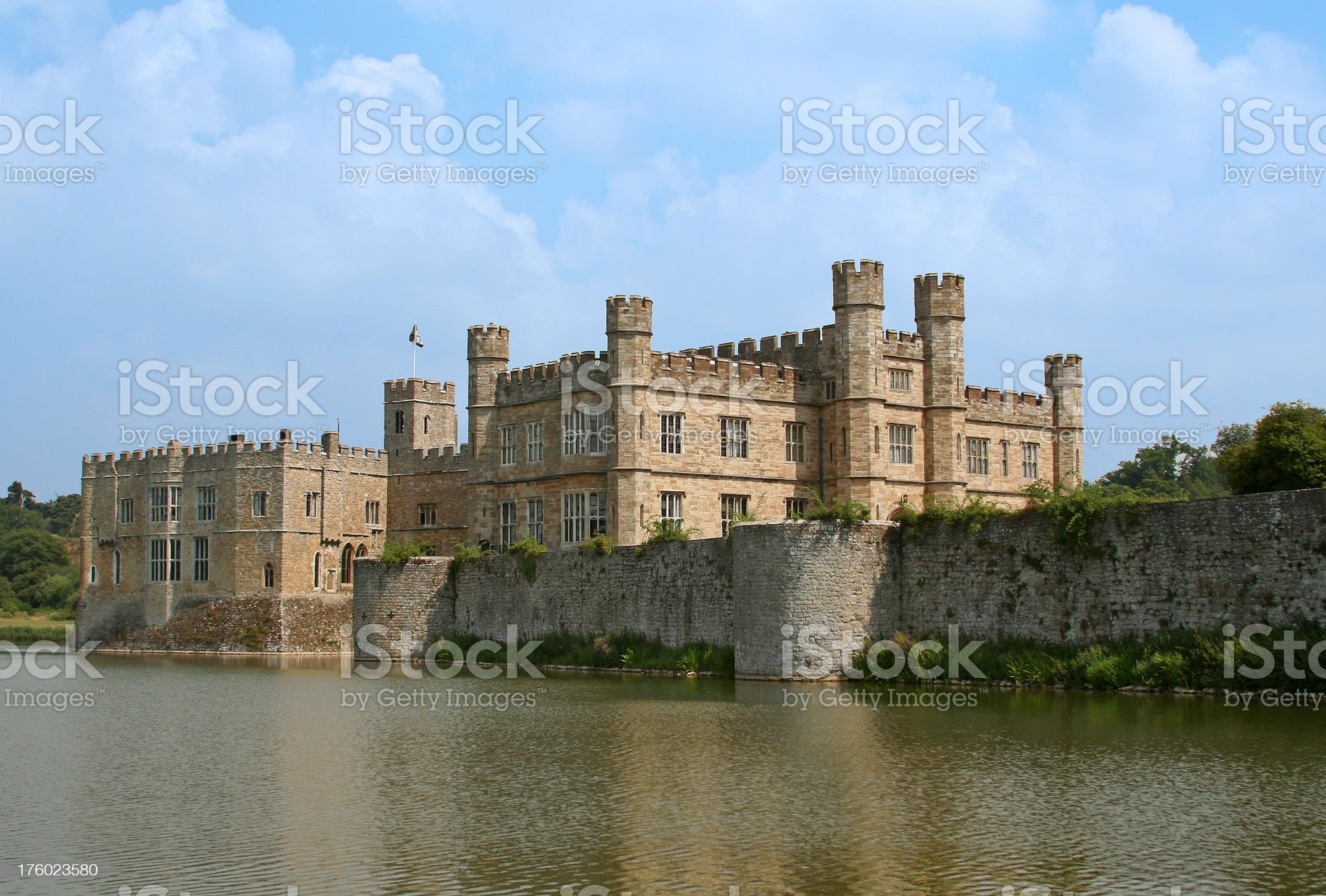 Magnificent Leeds Castle in Kent, England, UK royalty-free stock photo