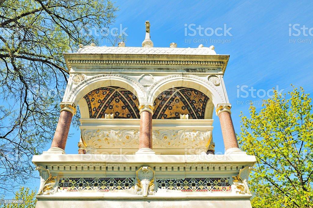 Magnificent Marble Tomb, Zentralfriedhof, Central Cemetery, Vienna, Austria stock photo