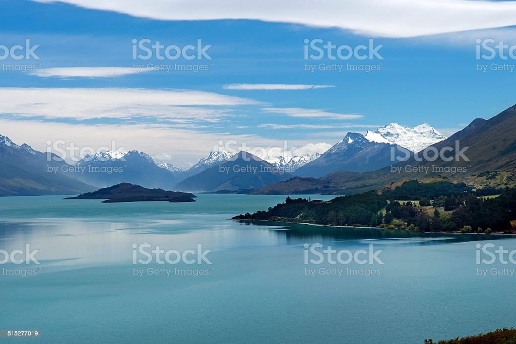 magnificent nature of New Zealand stock photo