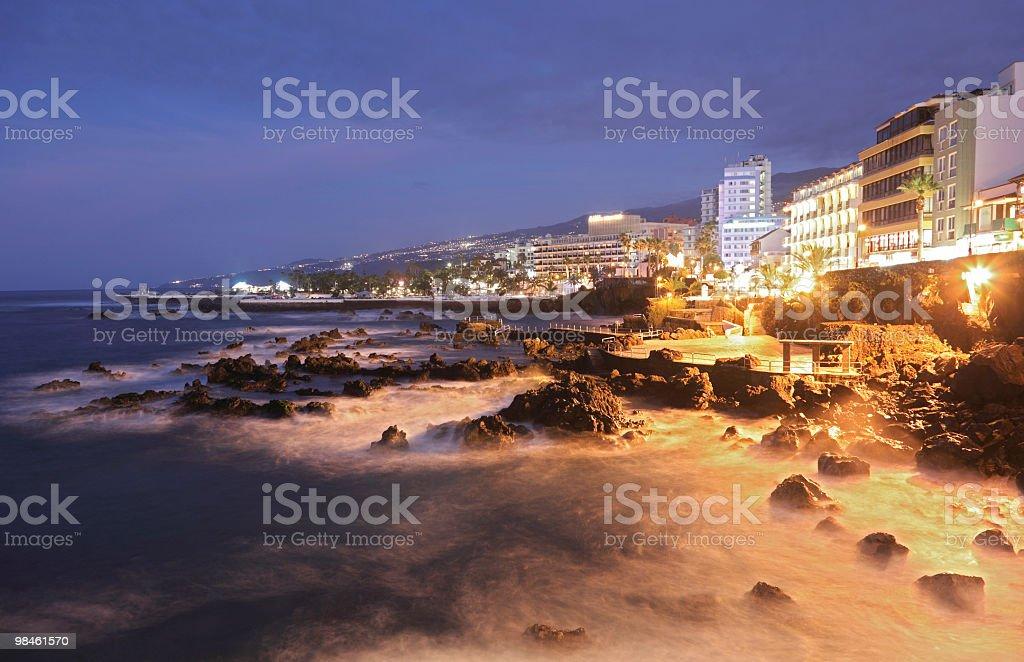 Magnificent ocean view of Tenerife of Puerto de la Cruz stock photo