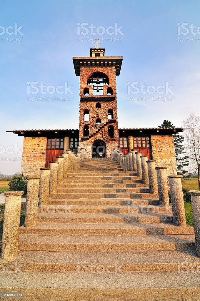 Magnificent Plecnik's Church of St. Michael, Crna vas, Ljubljana, Slovenia stock photo