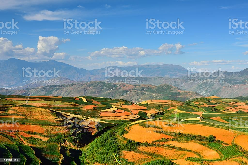 Magnificent Red land in China's Yunnan 022 stock photo