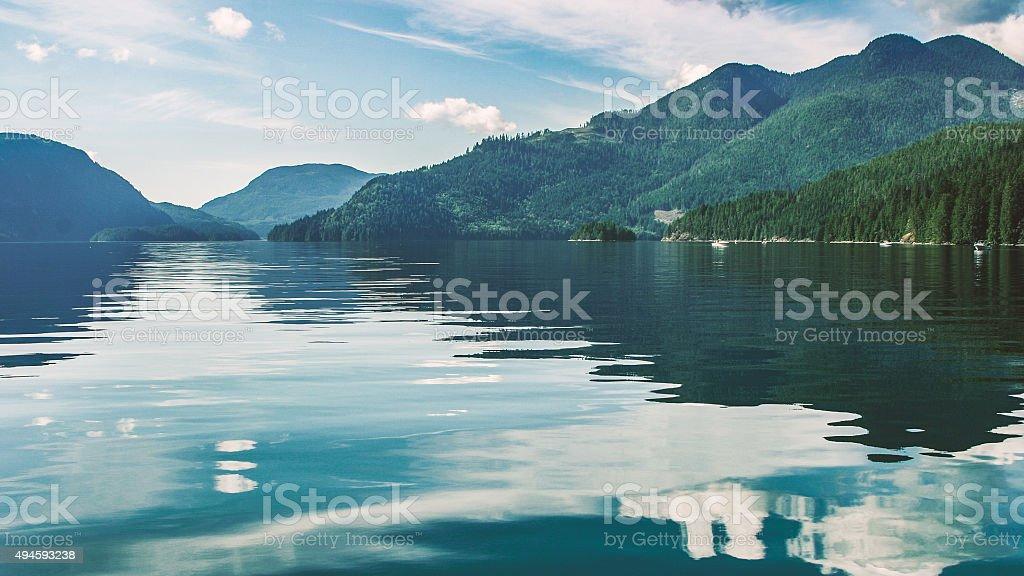 Magnificent scenery of Alaska stock photo