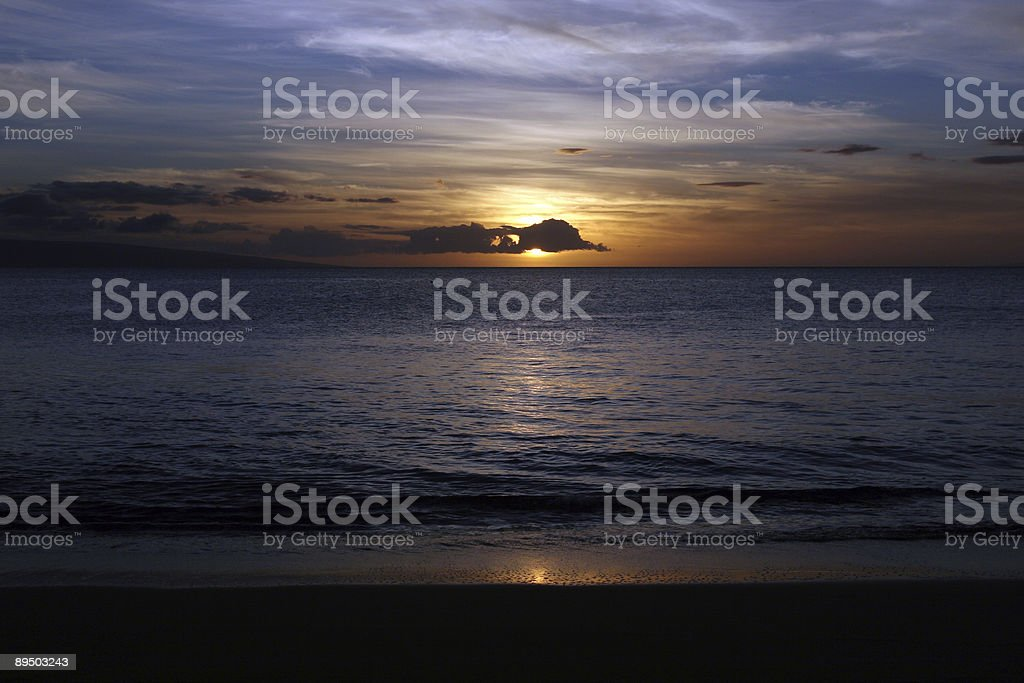 Magnificent Sunset in Hawaii royalty-free stock photo