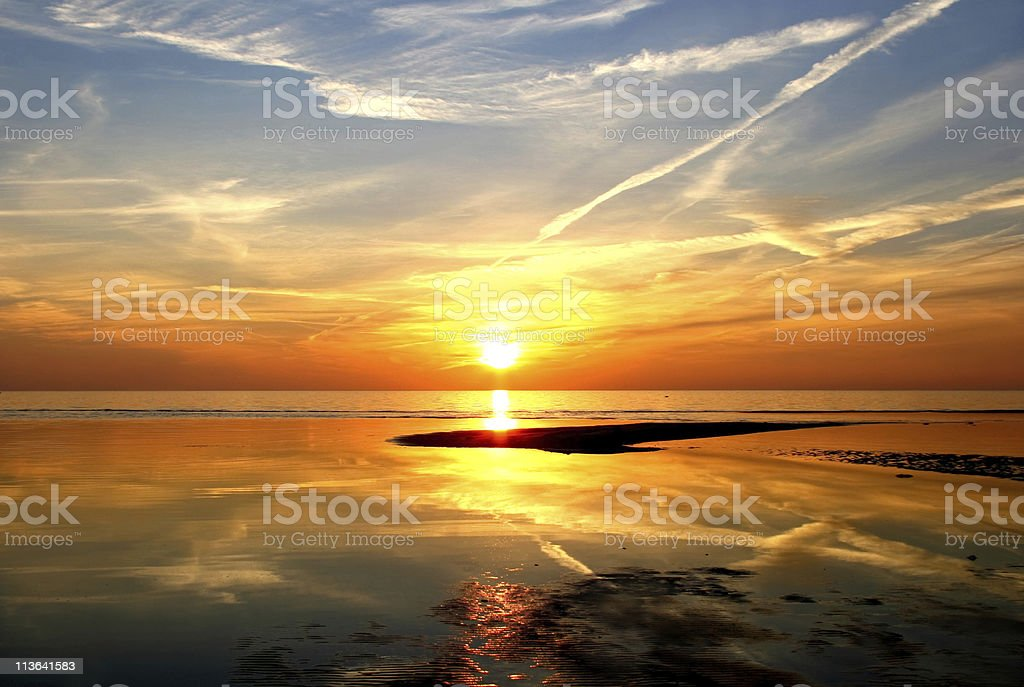 Magnificent sunset stock photo