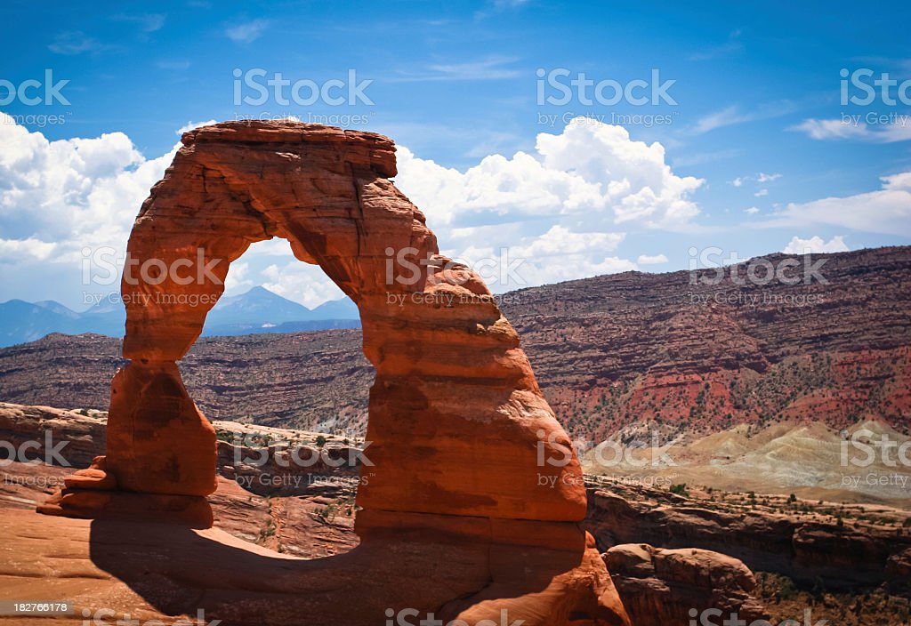 Magnificent view of Arches National Park in Utah stock photo