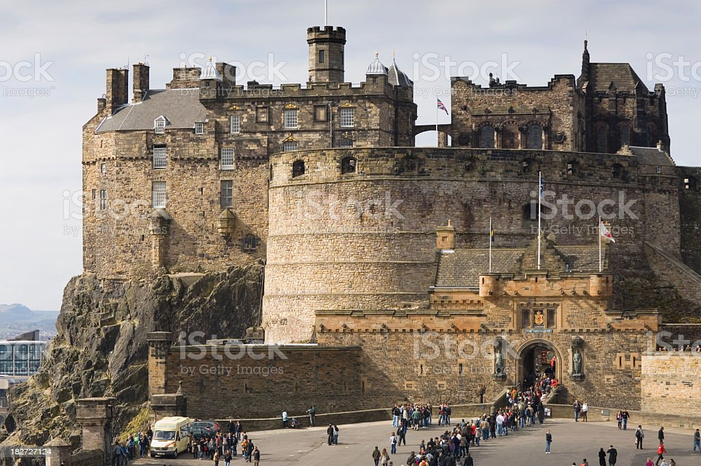 Magnificent view of Edinburgh Castle royalty-free stock photo