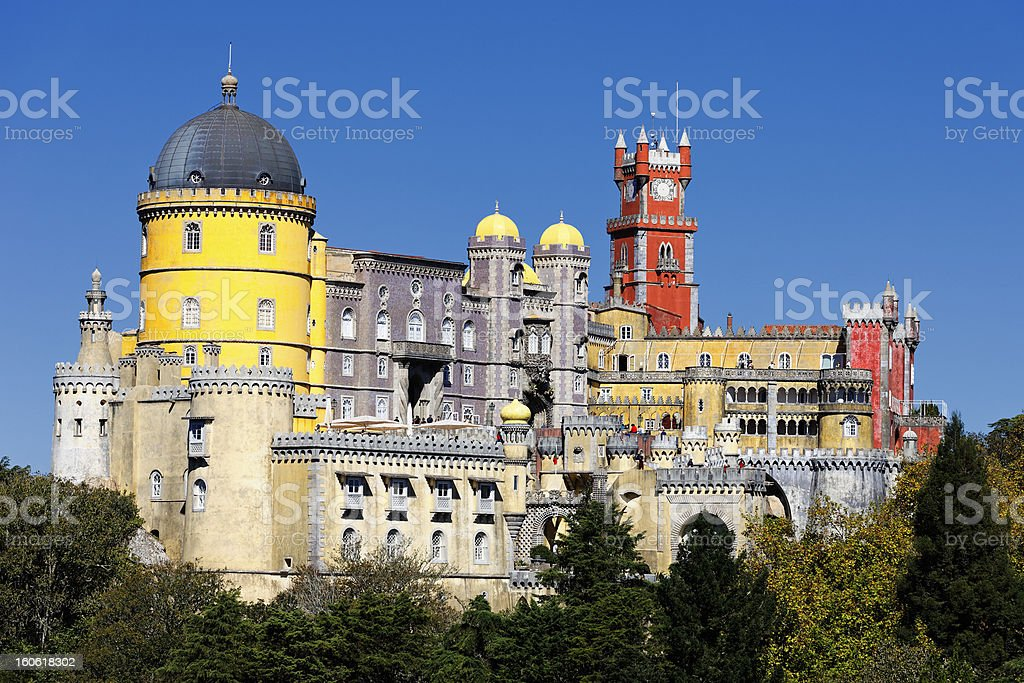 Magnificent view of Pana Castle in blue sky stock photo