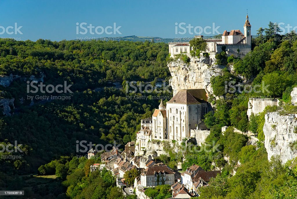 Magnificent view of Rocamadour stock photo
