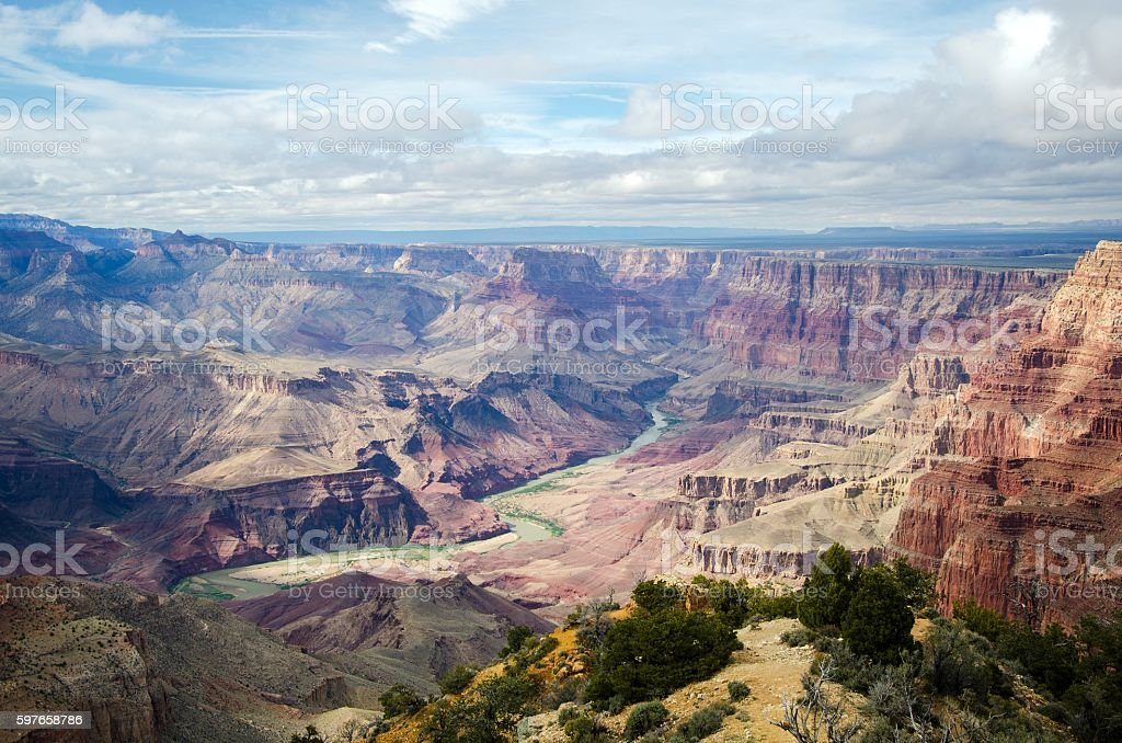 Magnificent view of the Grand canyon stock photo