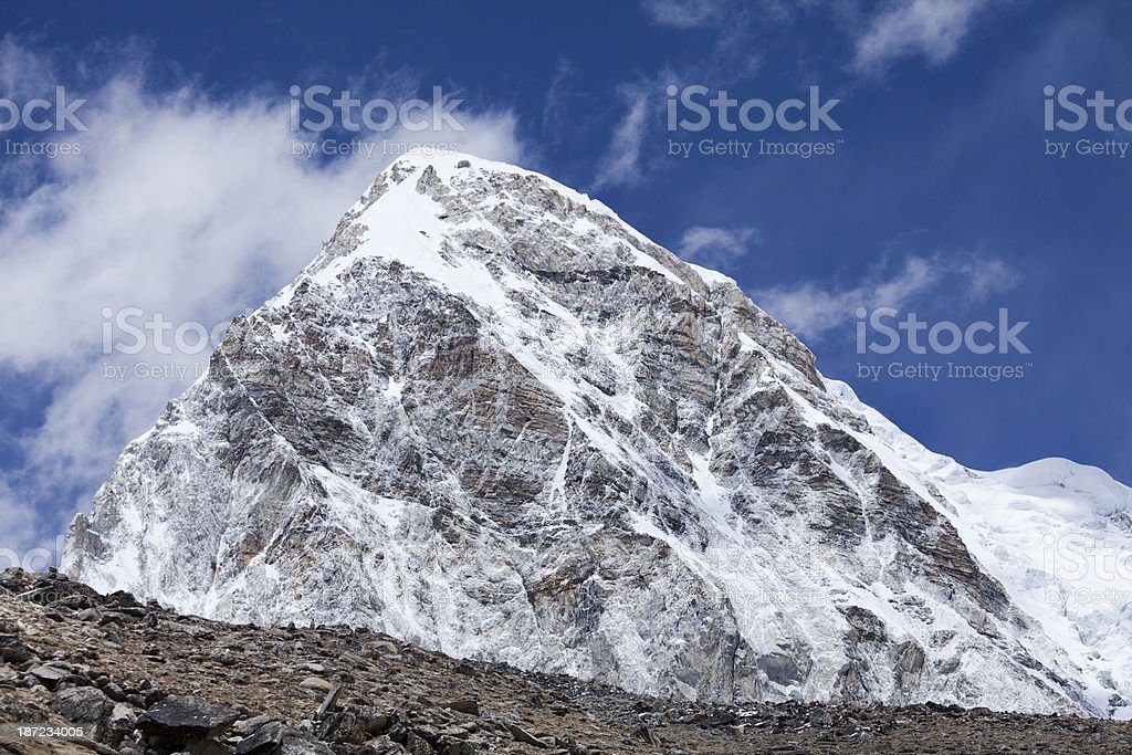 Magnificent view of the mountain range on Himalayas royalty-free stock photo