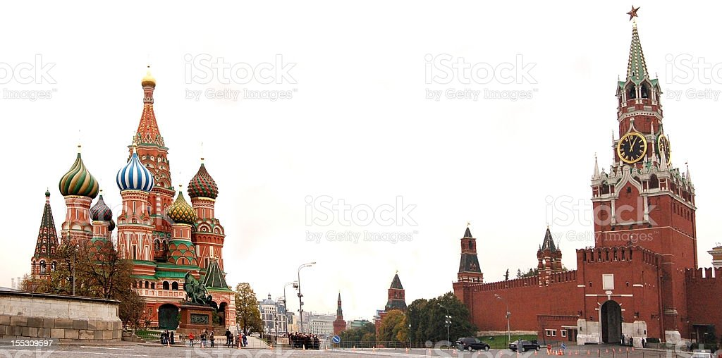 Magnificent view of the Red Square of Russia stock photo
