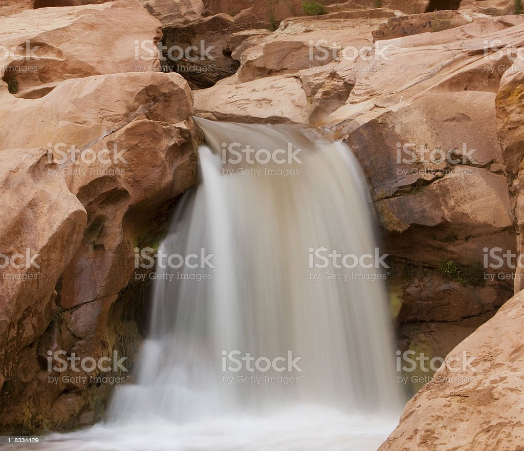 Magnificent Waterfall In Capitol Reef National Park stock photo