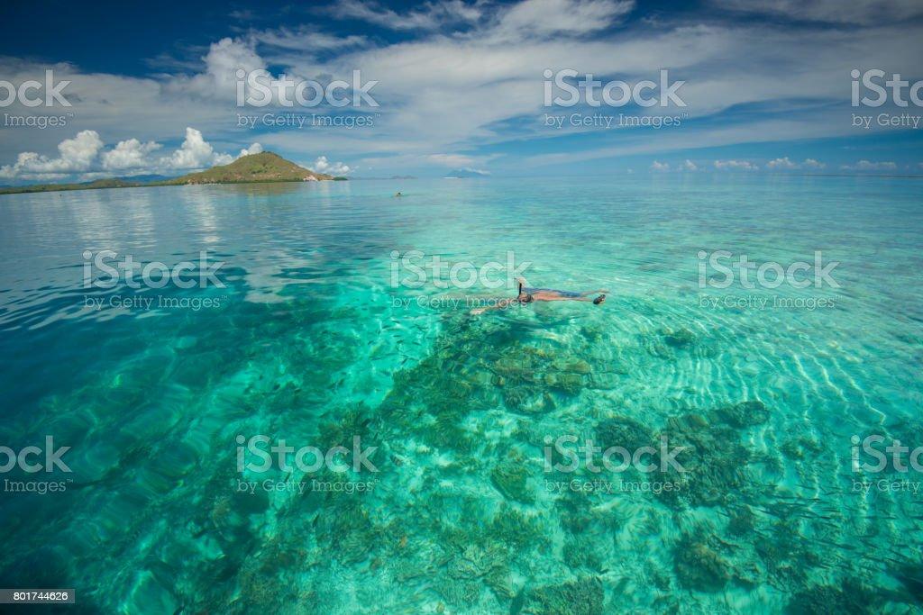 magnificient Scenery at Kanawa IslandLand, Komodo Island, Labuan Bajo, Indonesia stock photo