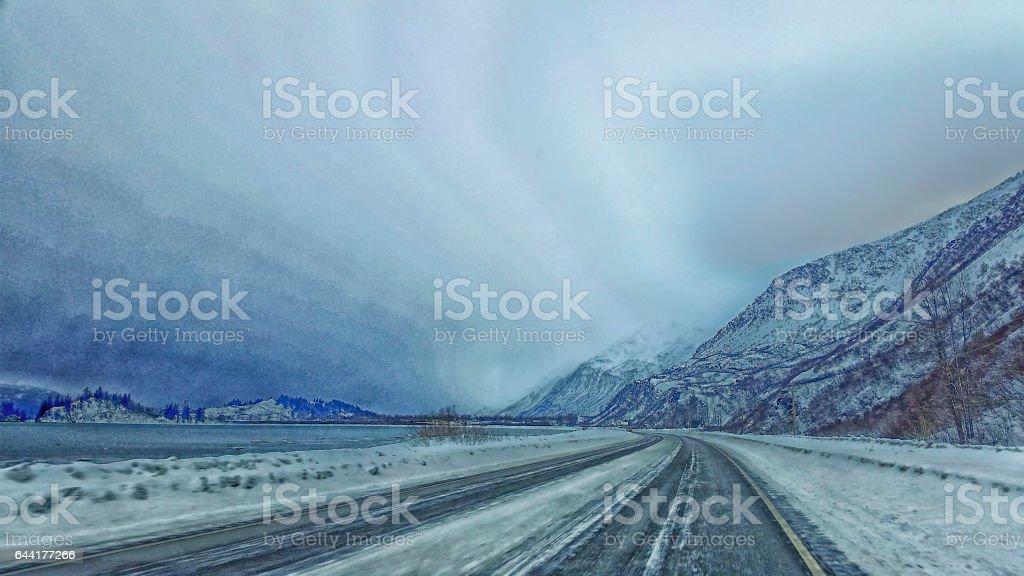 Magnificient Sky –Valdez, Alaska stock photo