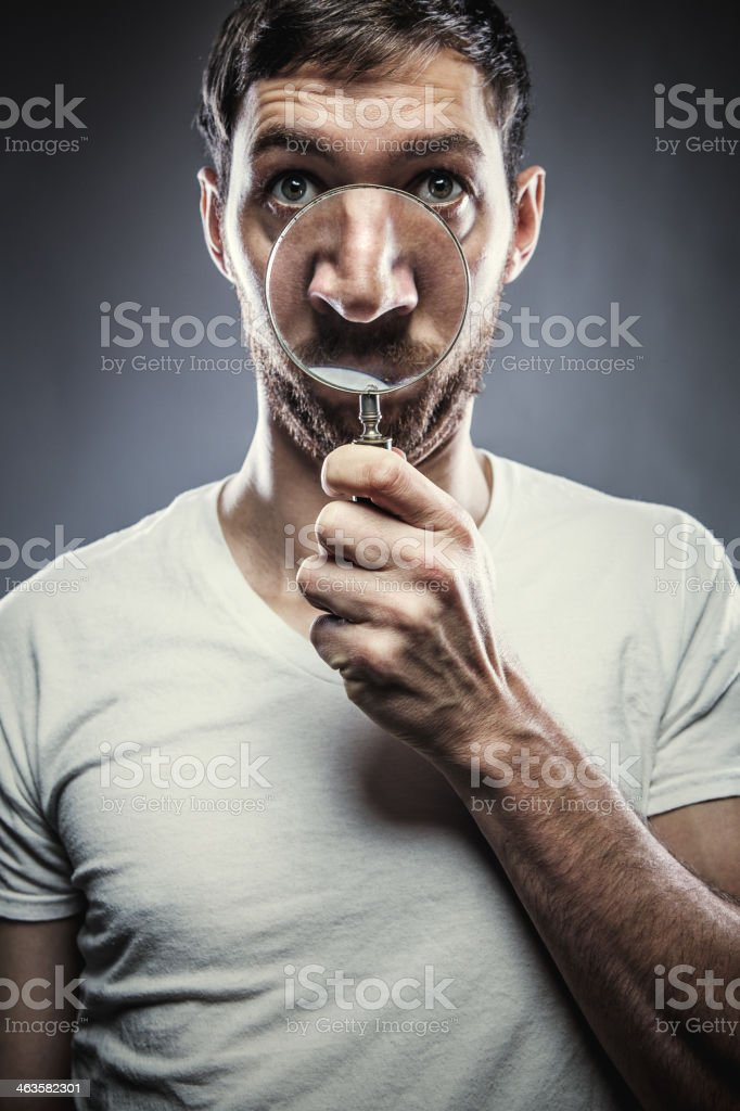 Magnified Nose stock photo