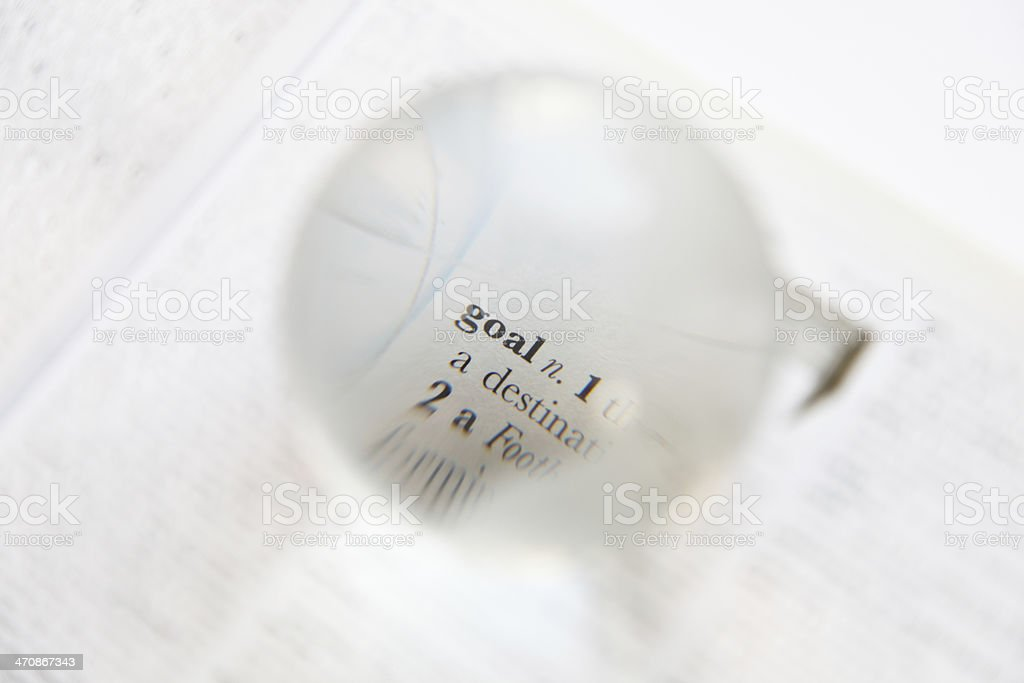 Magnified on goal word stock photo