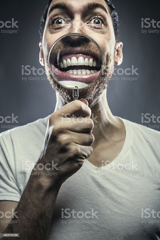 Magnified Smile stock photo
