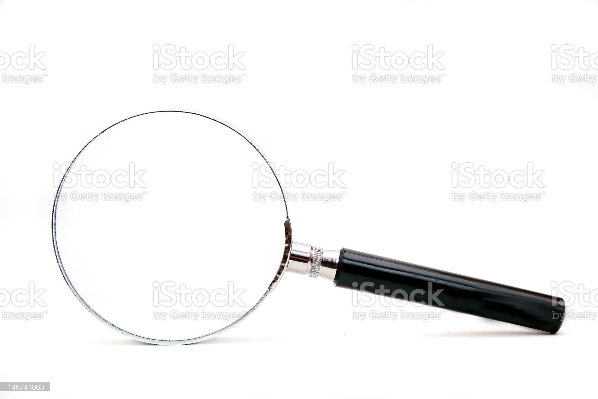 magnifier isolated on a white background royalty-free stock photo