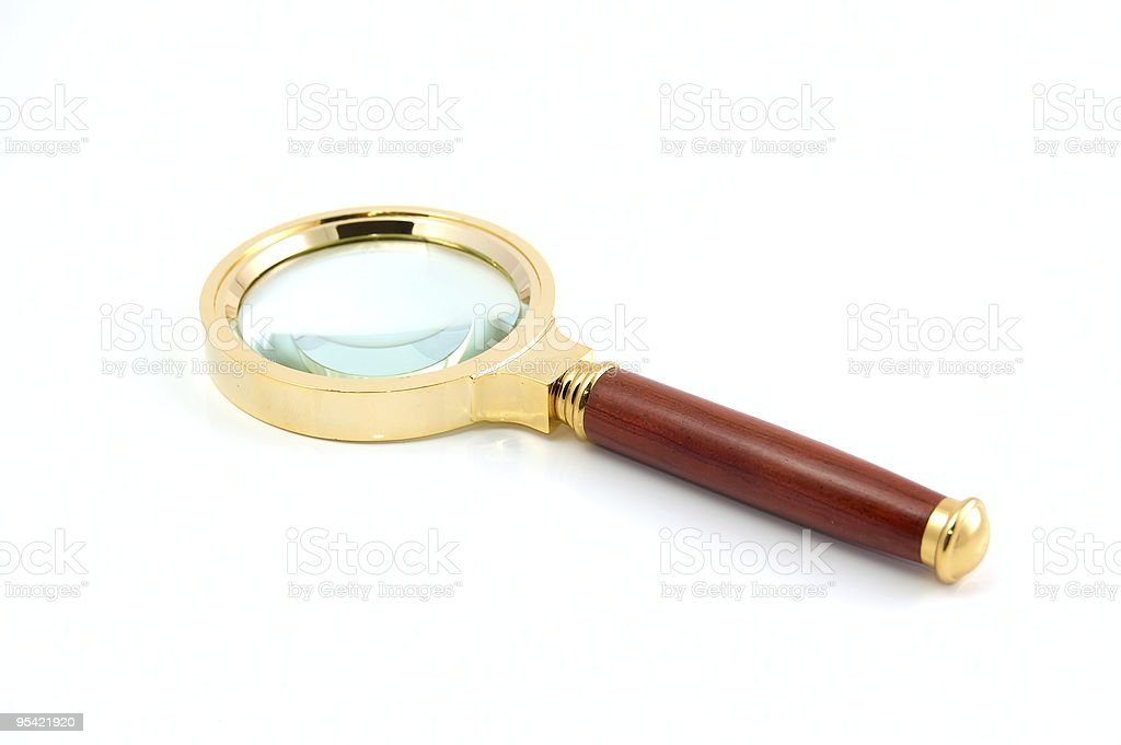 Magnifier on a white stock photo