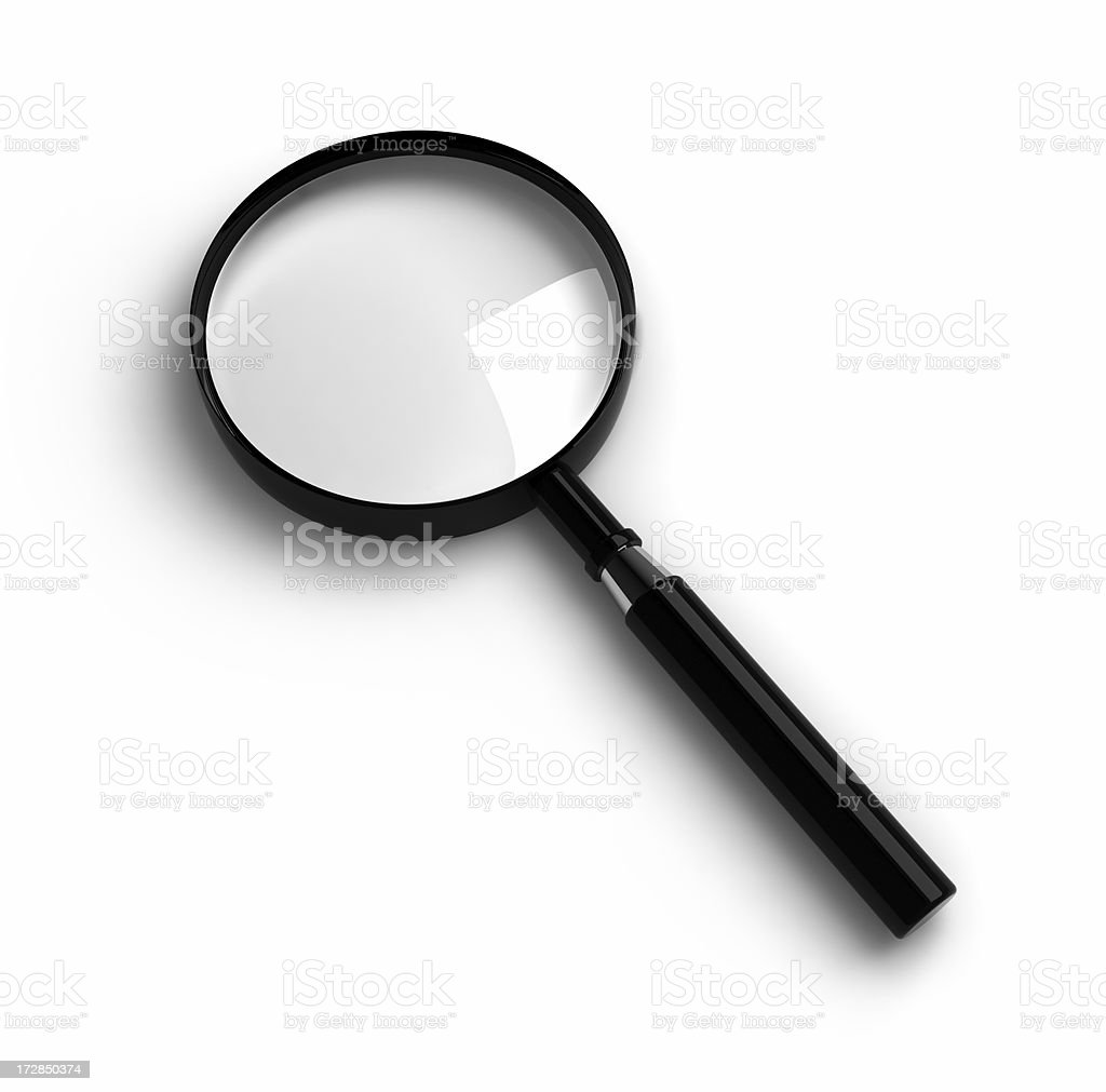 Magnifier royalty-free stock photo
