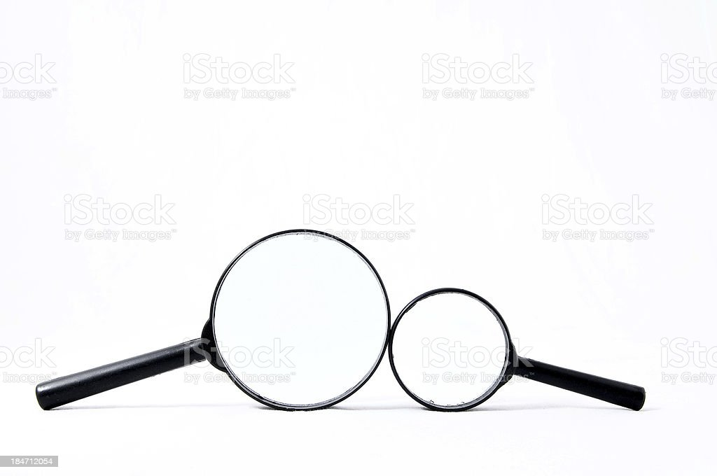 Magnify Glass Loupe royalty-free stock photo