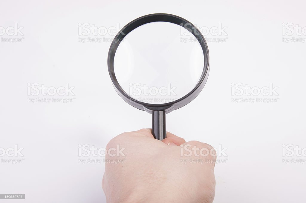 Magnify glass royalty-free stock photo