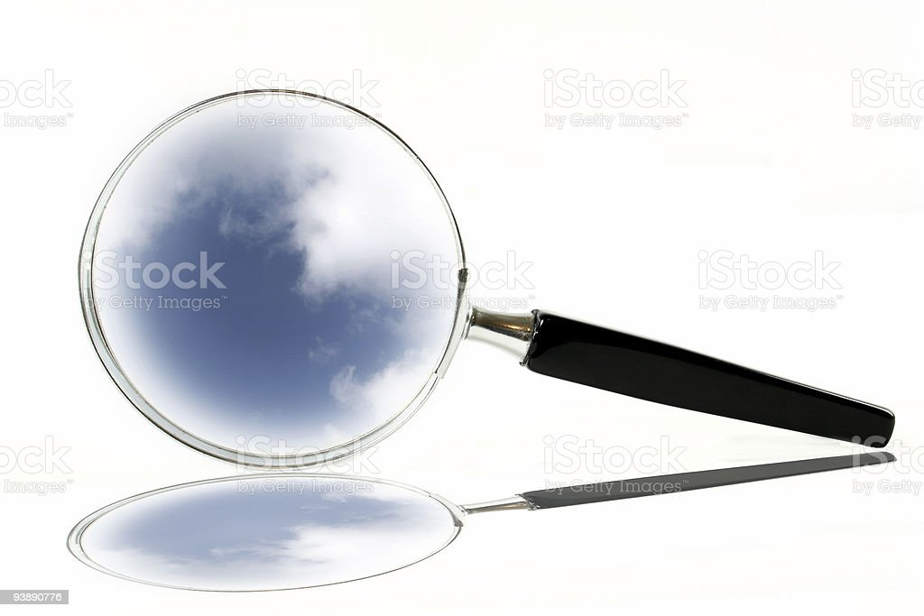 Magnifying Glass and reflection royalty-free stock photo