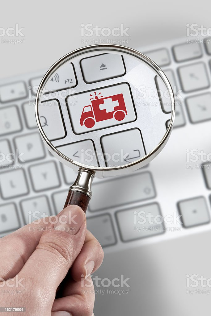 Magnifying glass Concept stock photo