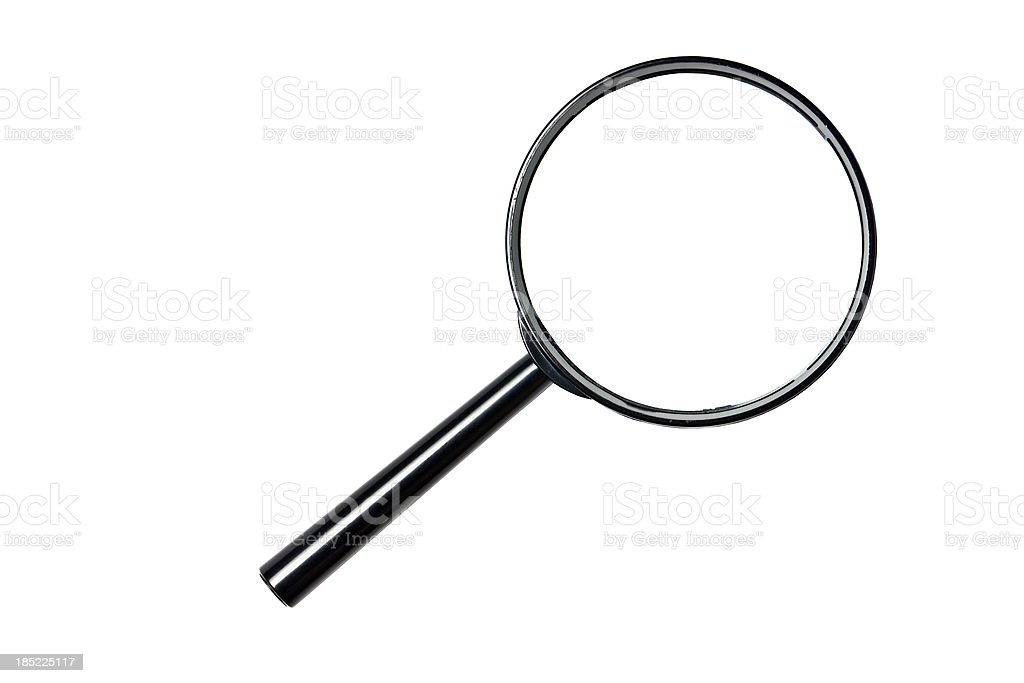 magnifying glass, cut out on white background royalty-free stock photo
