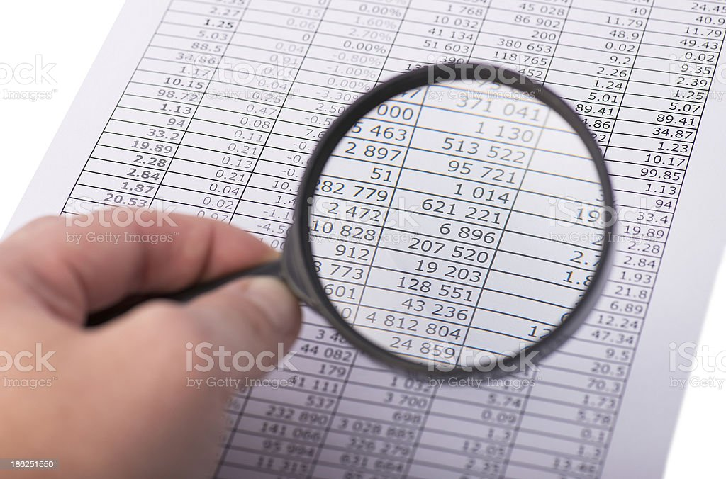 magnifying glass in the hand royalty-free stock photo