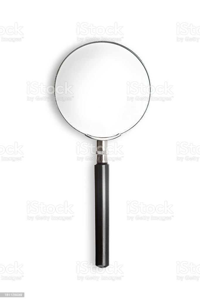 Magnifying glass isolated on white background royalty-free stock photo