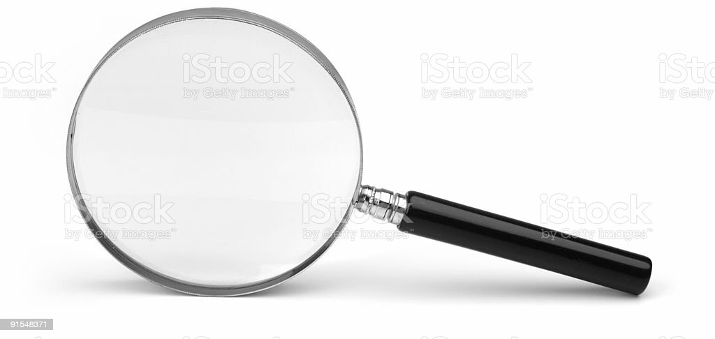 A magnifying glass laying on its side royalty-free stock photo