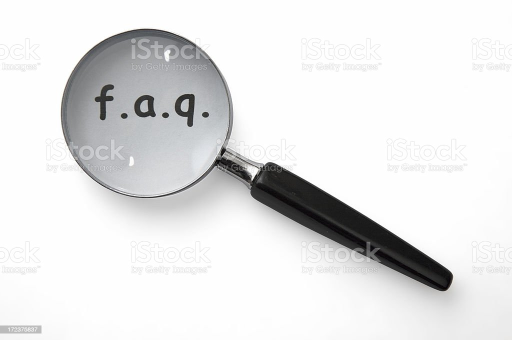 FAQ Magnifying Glass royalty-free stock photo