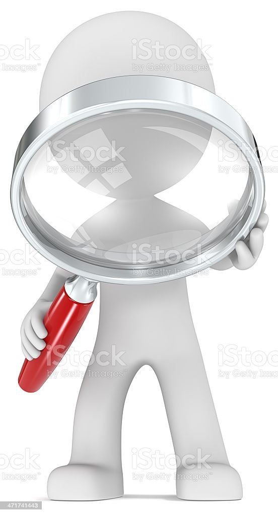 Magnifying Glass. royalty-free stock photo