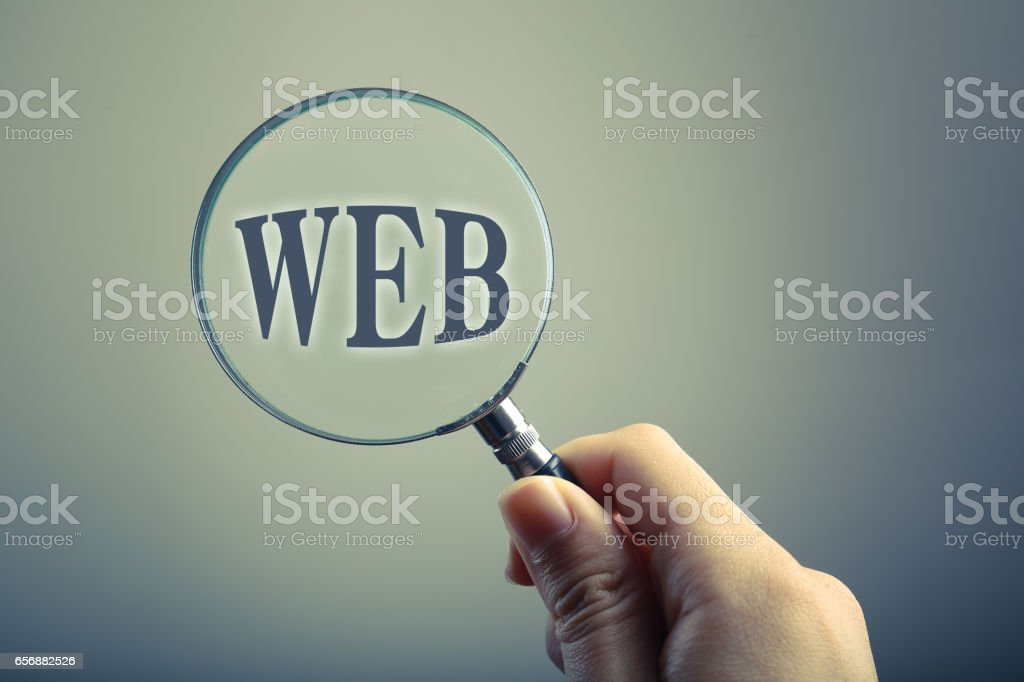 Magnifying Glass With Text WEB stock photo