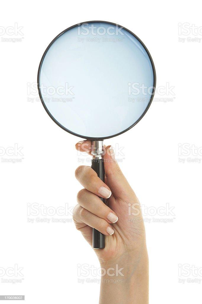 Magnifying lens royalty-free stock photo