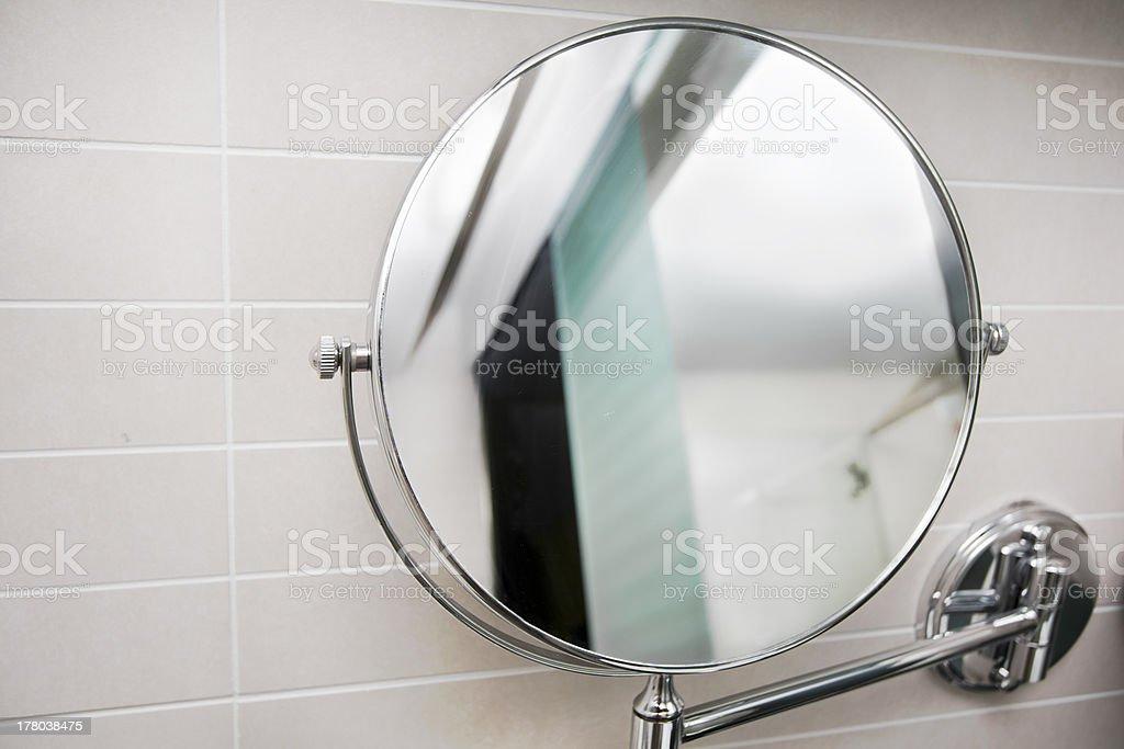 Magnifying mirror stock photo