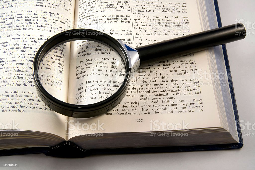 Magnifying royalty-free stock photo