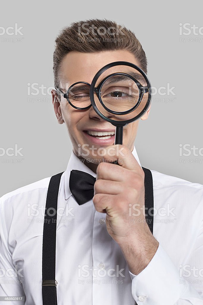 Magnifying you. royalty-free stock photo
