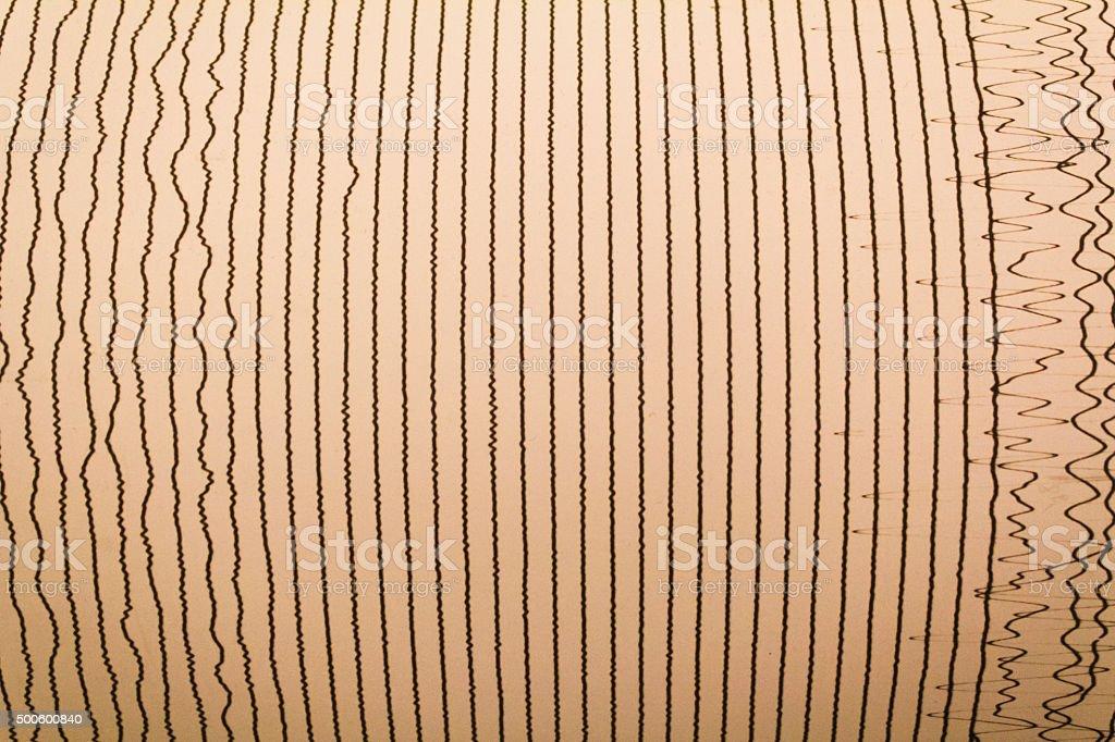 Magnitudo lines stock photo