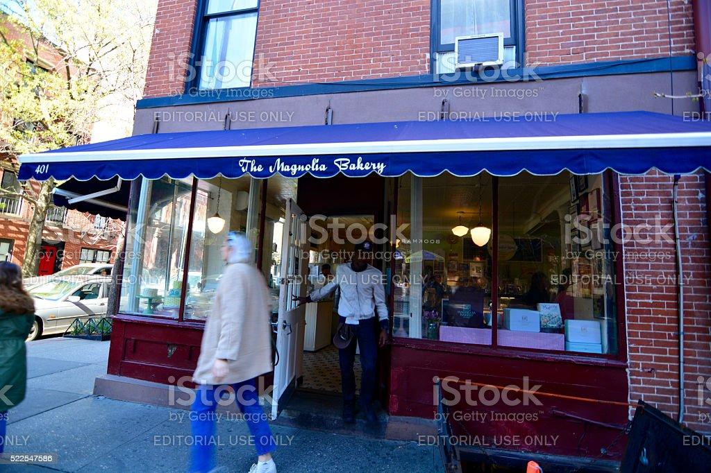 Magnolia Bakery NYC stock photo