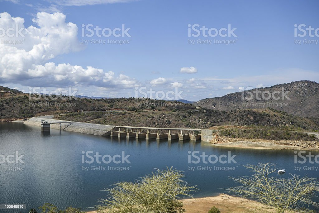 Maguga Dam on the Komati River in Swaziland stock photo