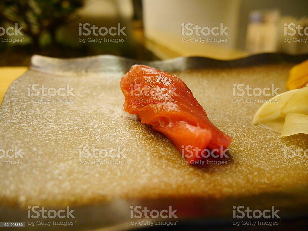 Maguro sushi stock photo