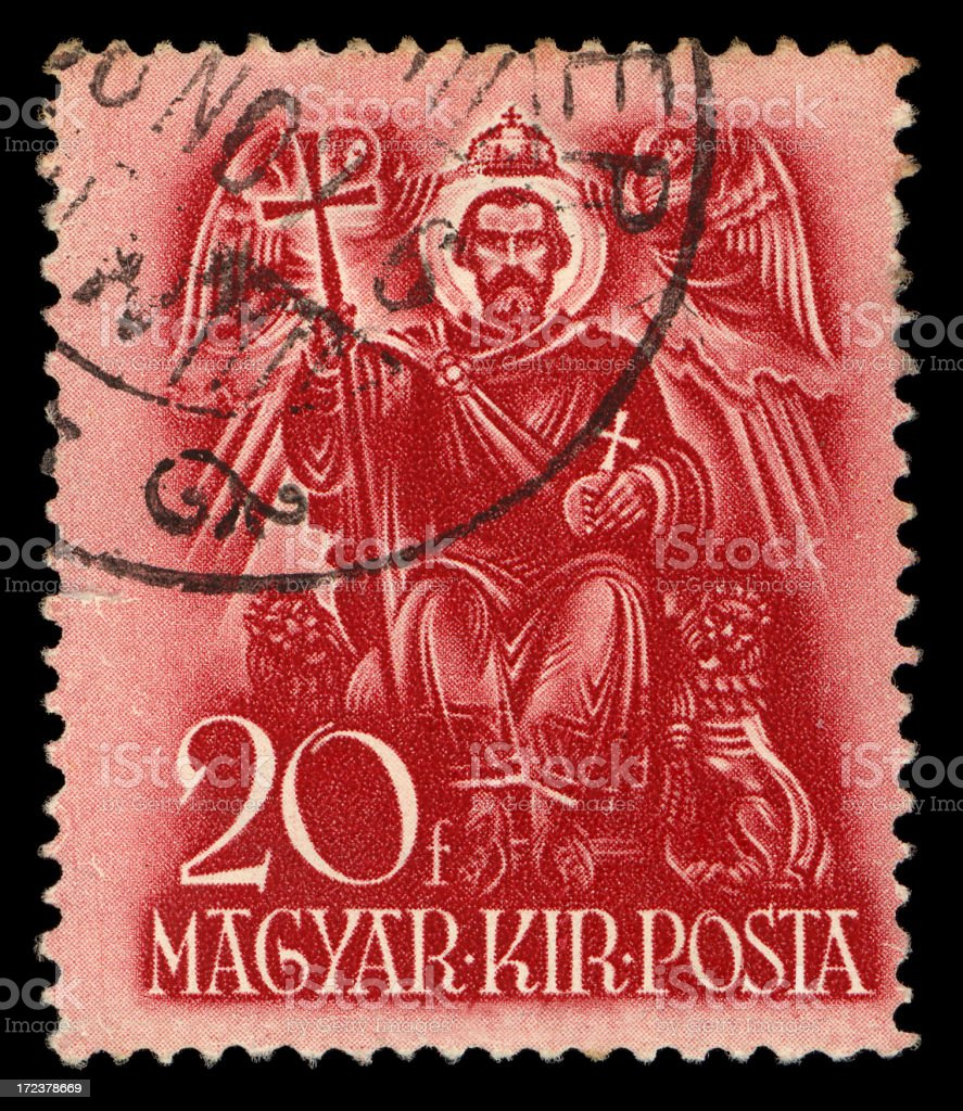 magyar stamp royalty-free stock photo