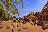 Mahabalipuram, India: 7th Century AD Pancha Rathas