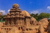 Mahabalipuram, India: 7th Century Arjuna Ratha, sculpted in Granite