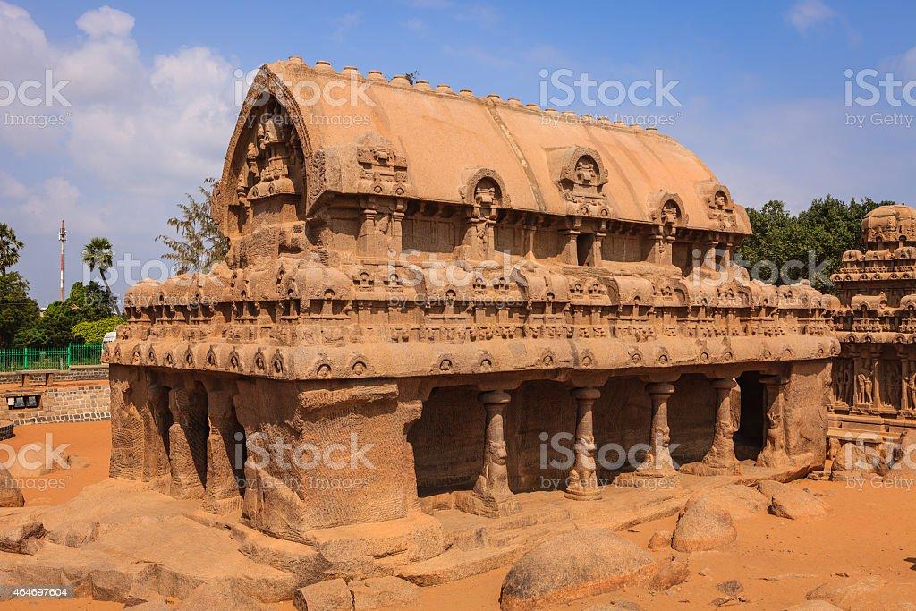 Mahabalipuram, India: 7th Century Bhima Ratha, part of Pancha Rathas stock photo