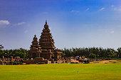 Mahabalipuram, India - Tourists at the Shore Temple