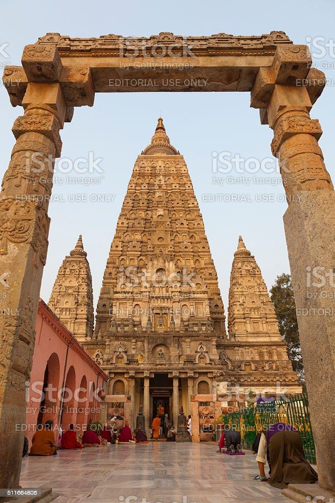 Mahabodhi Temple, Bodhgaya, Bihar in India stock photo